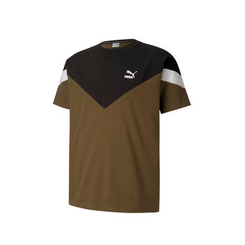 Puma T-shirt kaki/zwart