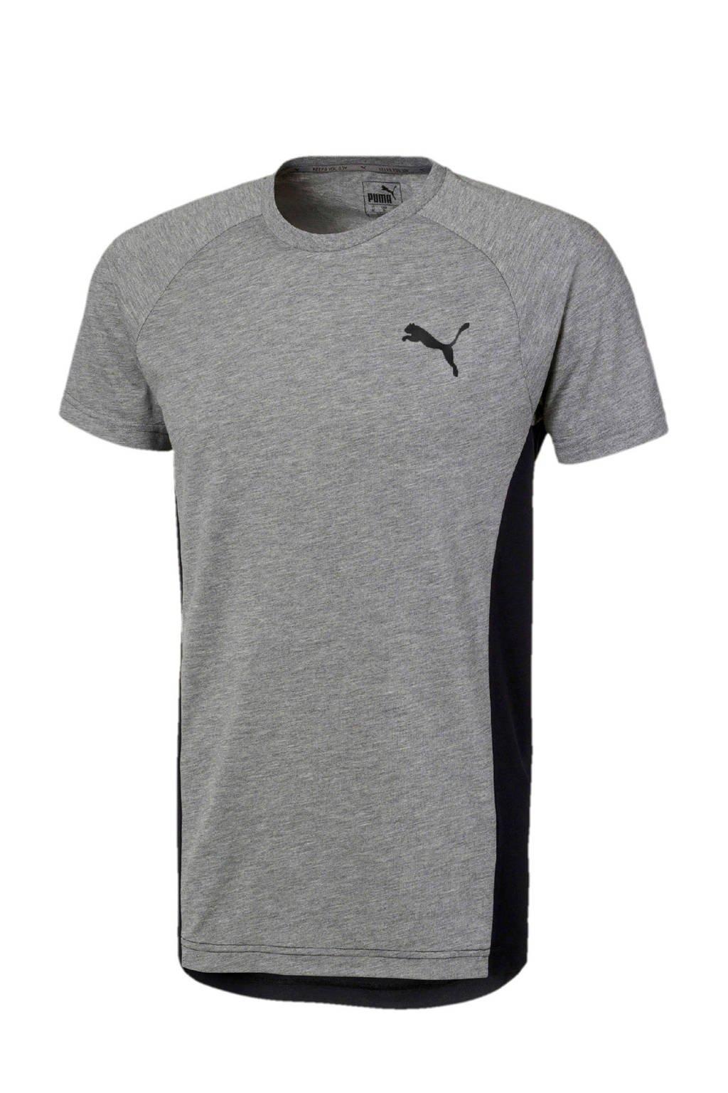 Puma   T-shirt grijs, Grijs