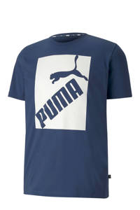 Puma   T-shirt blauw/wit, Blauw/wit