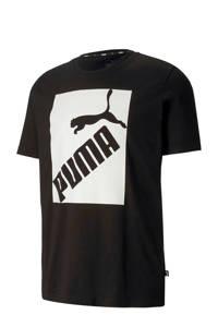 Puma   T-shirt zwart/wit, Zwart/wit