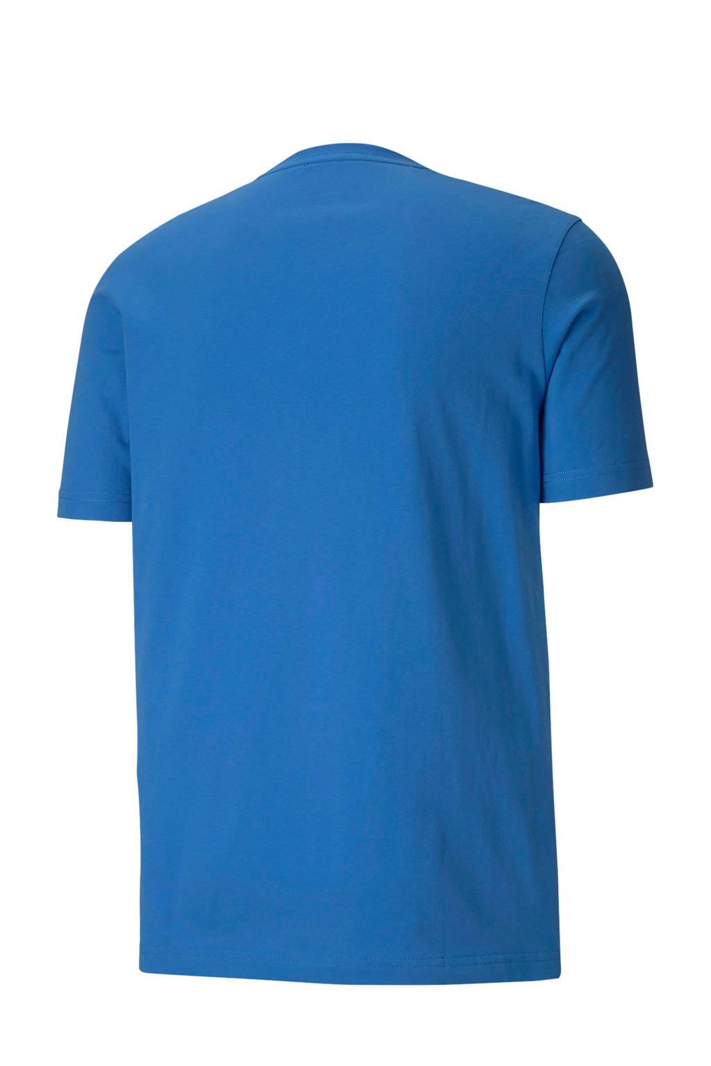 Puma   T-shirt blauw, Blauw