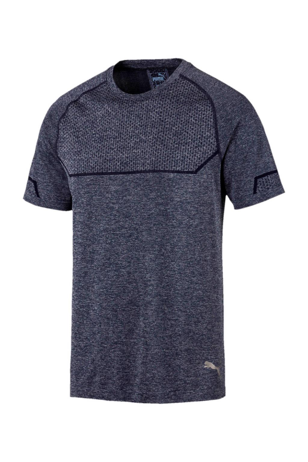 Puma   sport T-shirt grijsblauw, Grijsblauw