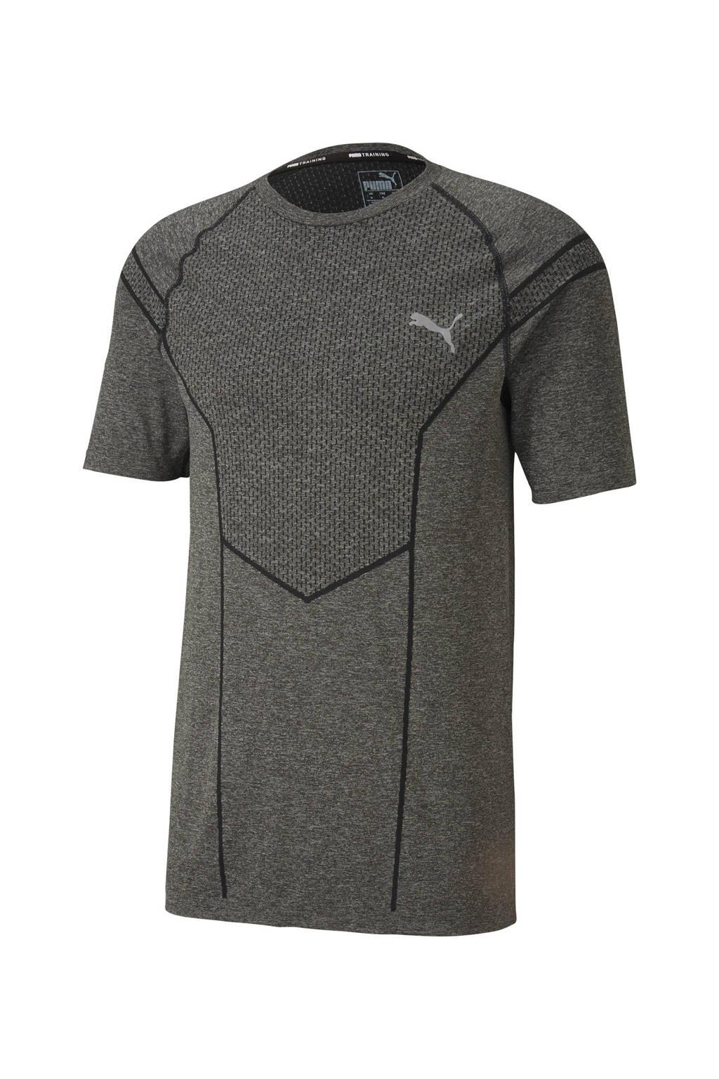 Puma   sport T-shirt grijs gemêleerd, Grijs gemêleerd
