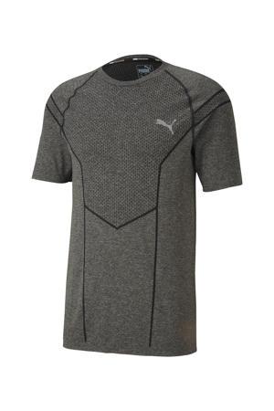 sport T-shirt grijs gemêleerd