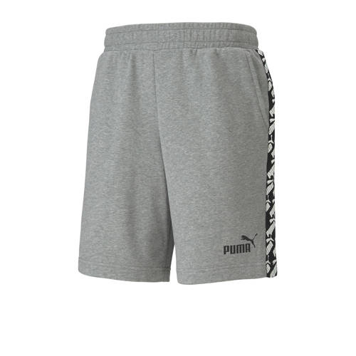 Puma joggingshort grijs melange