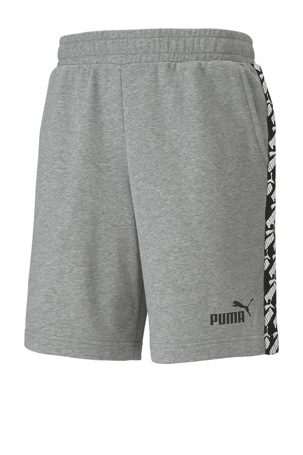 Puma   joggingshort grijs melange, Grijs melange