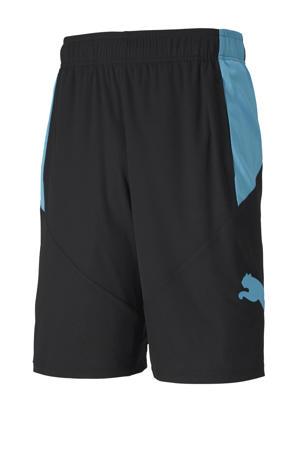 sportshort zwart/lichtblauw