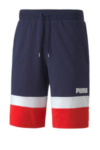 Puma   short donkerblauw/wit/rood, Donkerblauw/wit/rood
