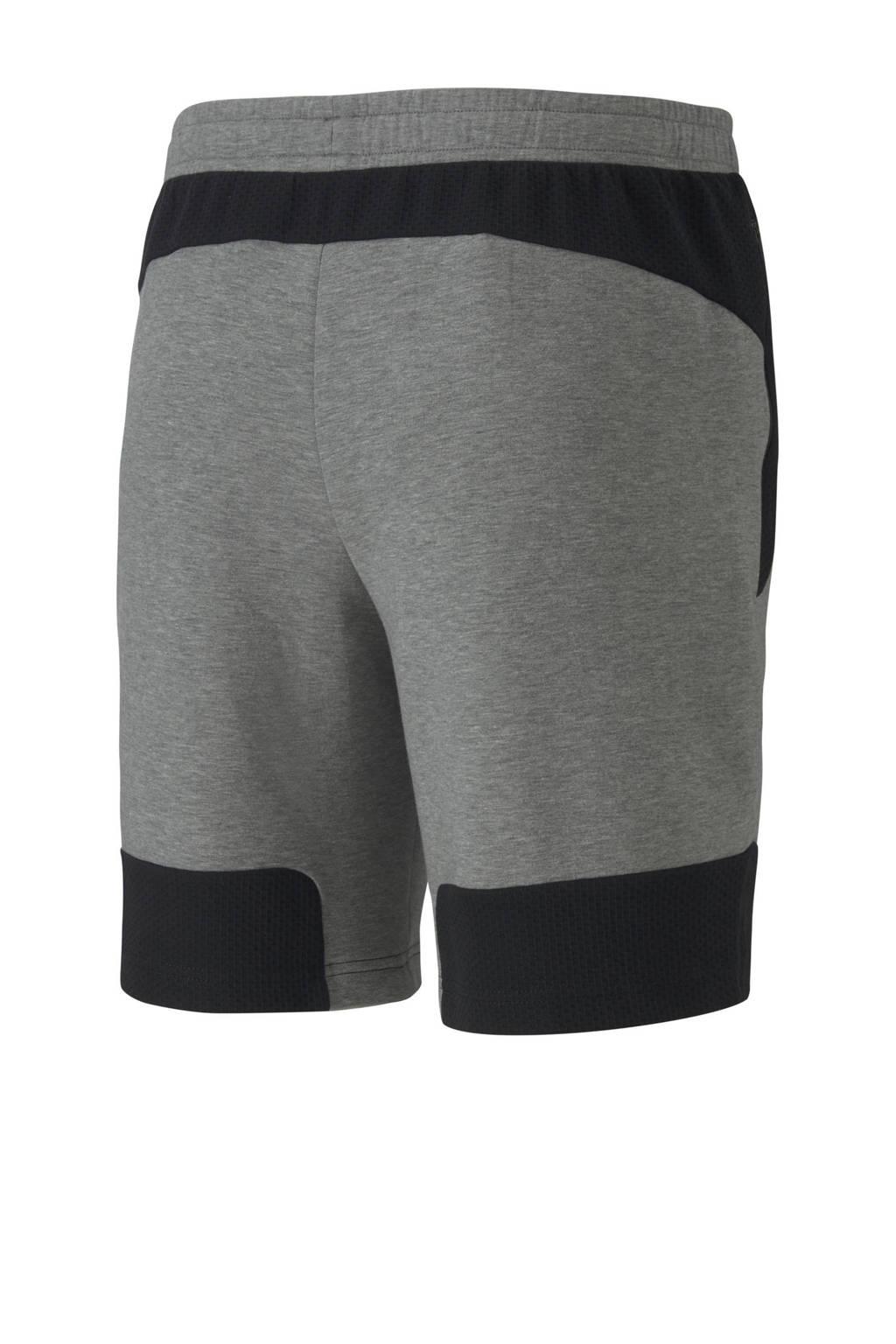 Puma   joggingshort grijs/zwart, Grijs/zwart