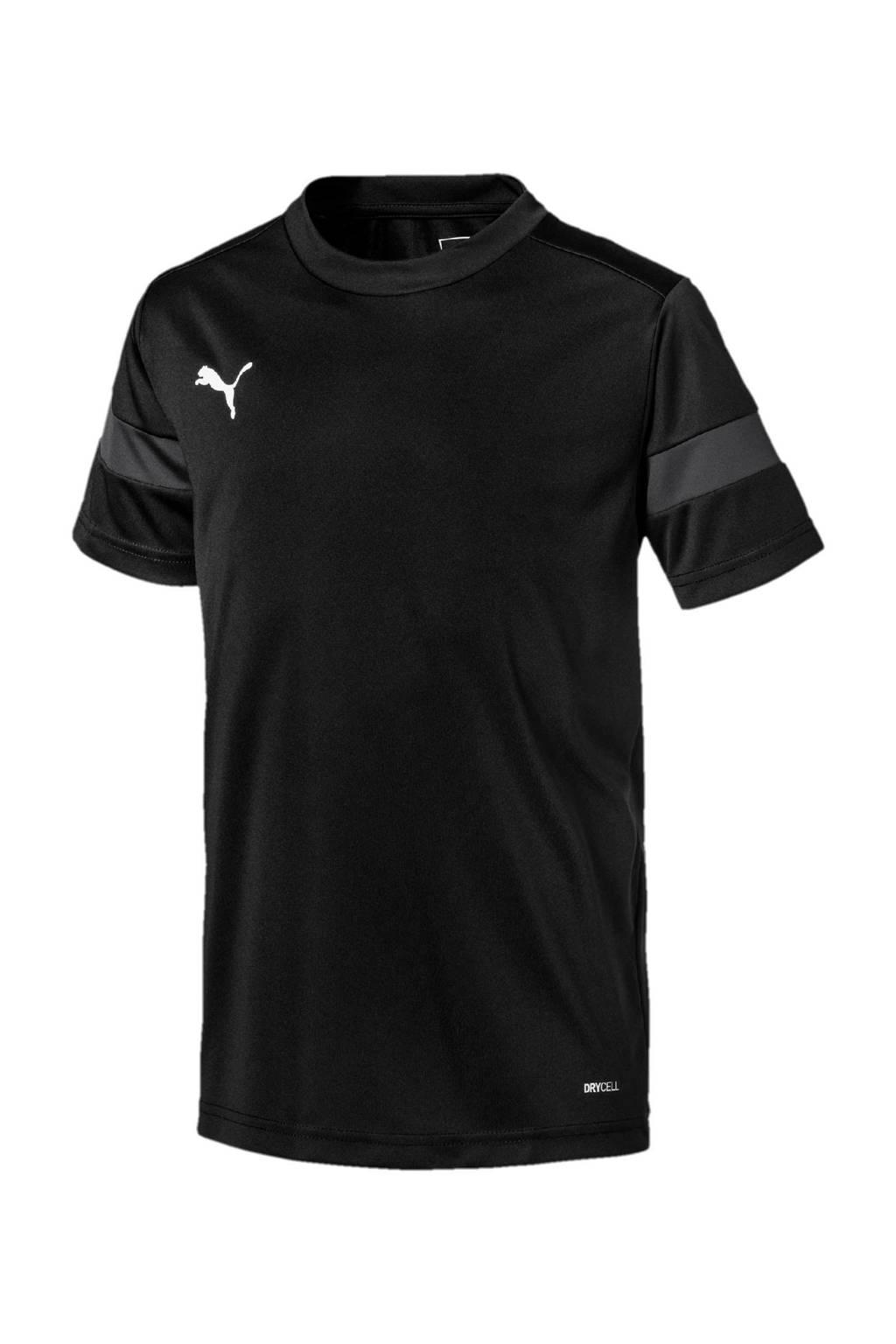 Puma Junior  voetbalshirt zwart/grijs, Zwart/grijs