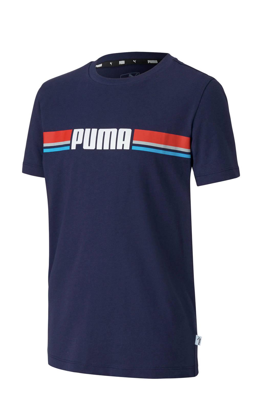 Puma T-shirt donkerblauw, Donkerblauw