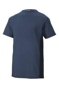 Puma T-shirt blauw/zwart, Blauw/zwart