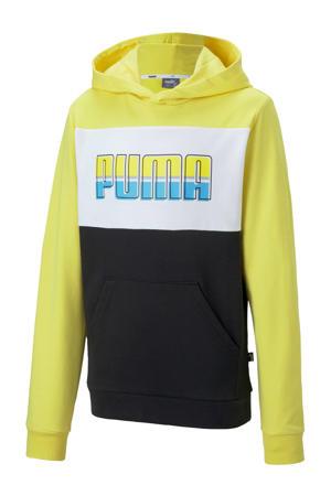 hoodie geel/wit/zwart
