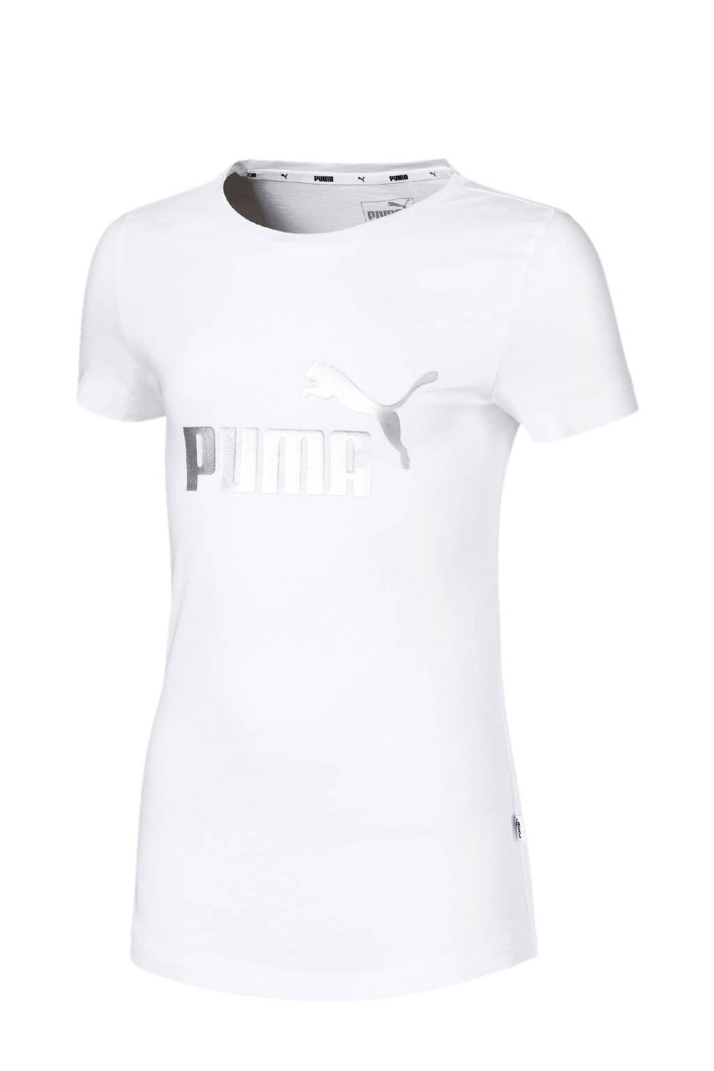 Puma T-shirt wit, Wit