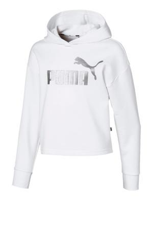 hoodie wit/zilver