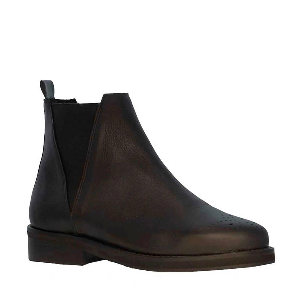Tango Shoes Pleun Fat 65-A leren chelsea boots zwart, Zwart