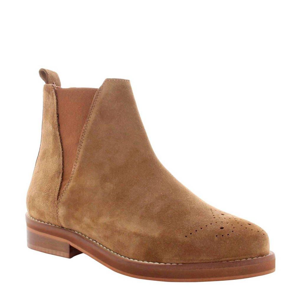 Tango Shoes Pleun Fat 65-C suède chelsea boots bruin, Bruin/cognac