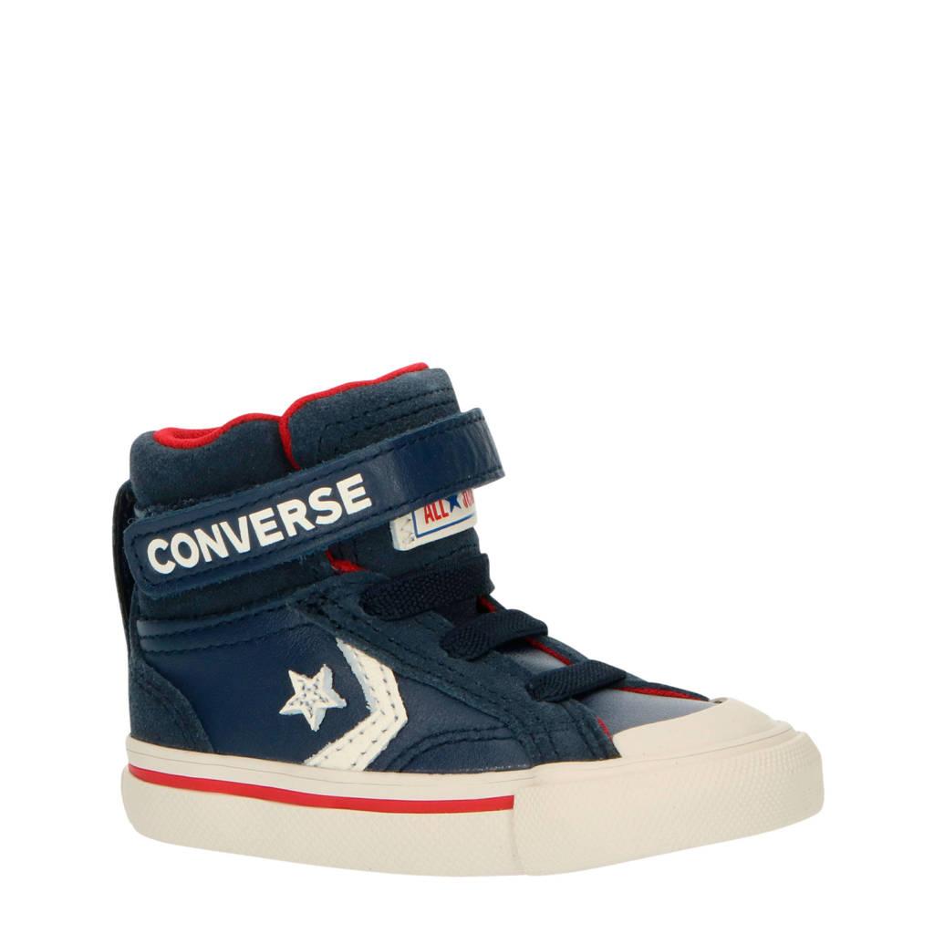 Converse Pro Blaze Strap Hi hoge leren sneakers blauw, Blauw/wit/rood