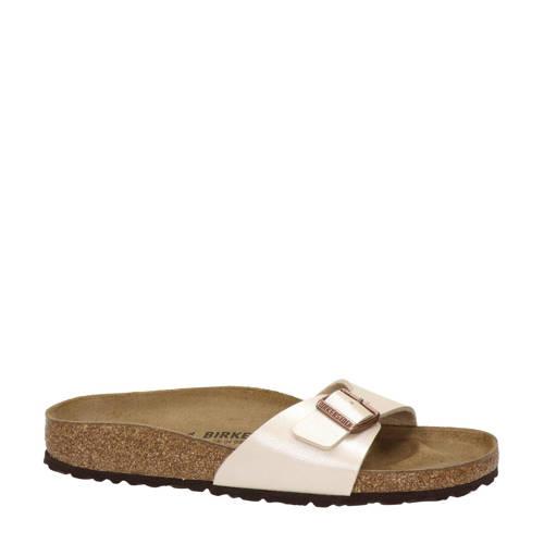 Birkenstock Madrid slippers ecru/goud