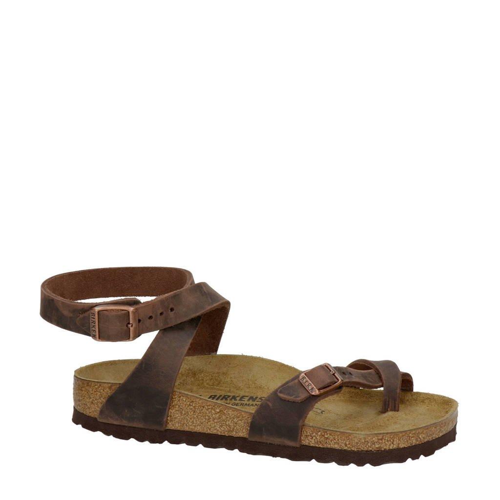 Birkenstock Yara  leren sandalen bruin, Bruin