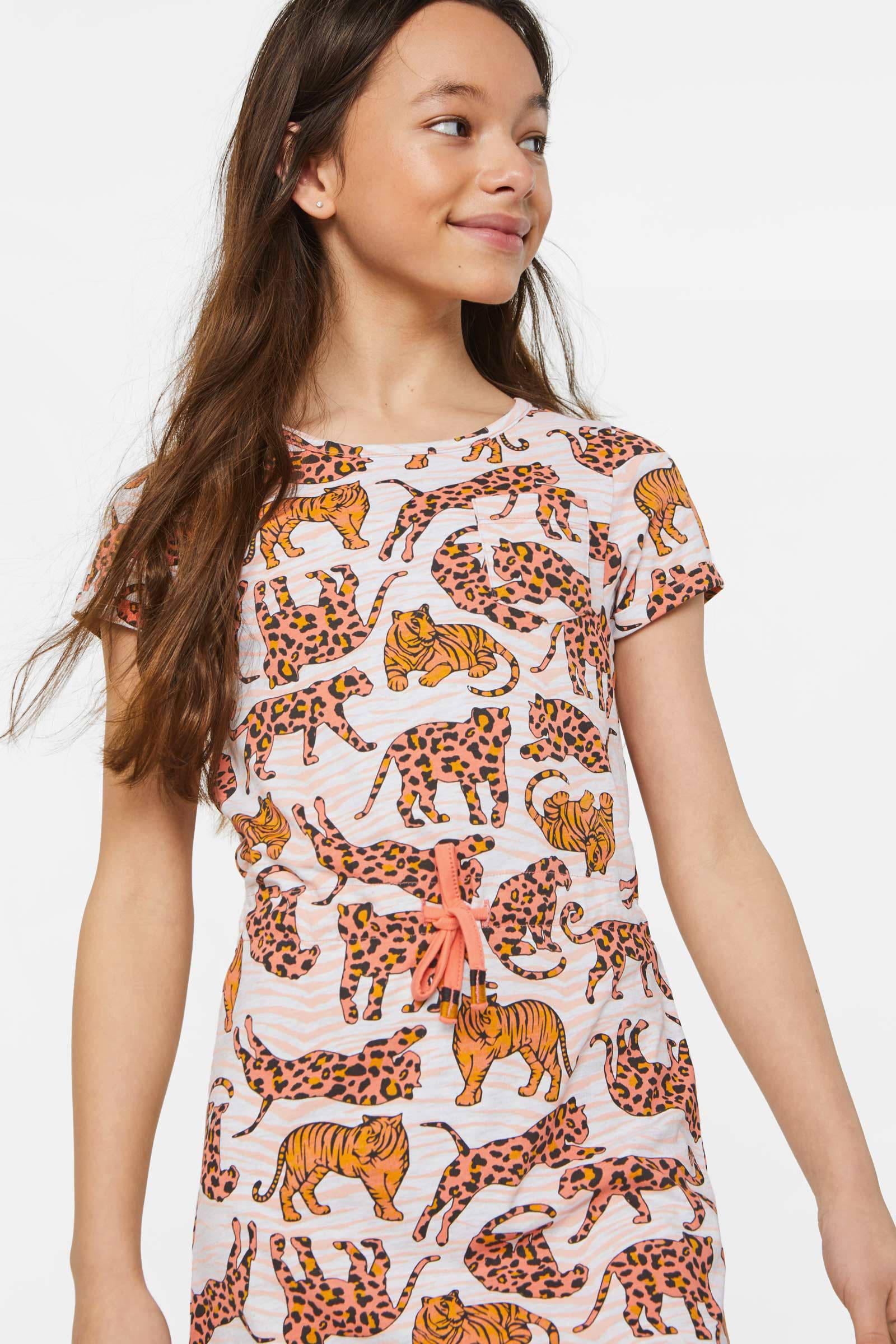 WE Fashion jersey jurk met all over print multi | wehkamp