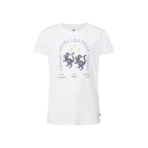 WE Fashion T-shirt met printopdruk wit