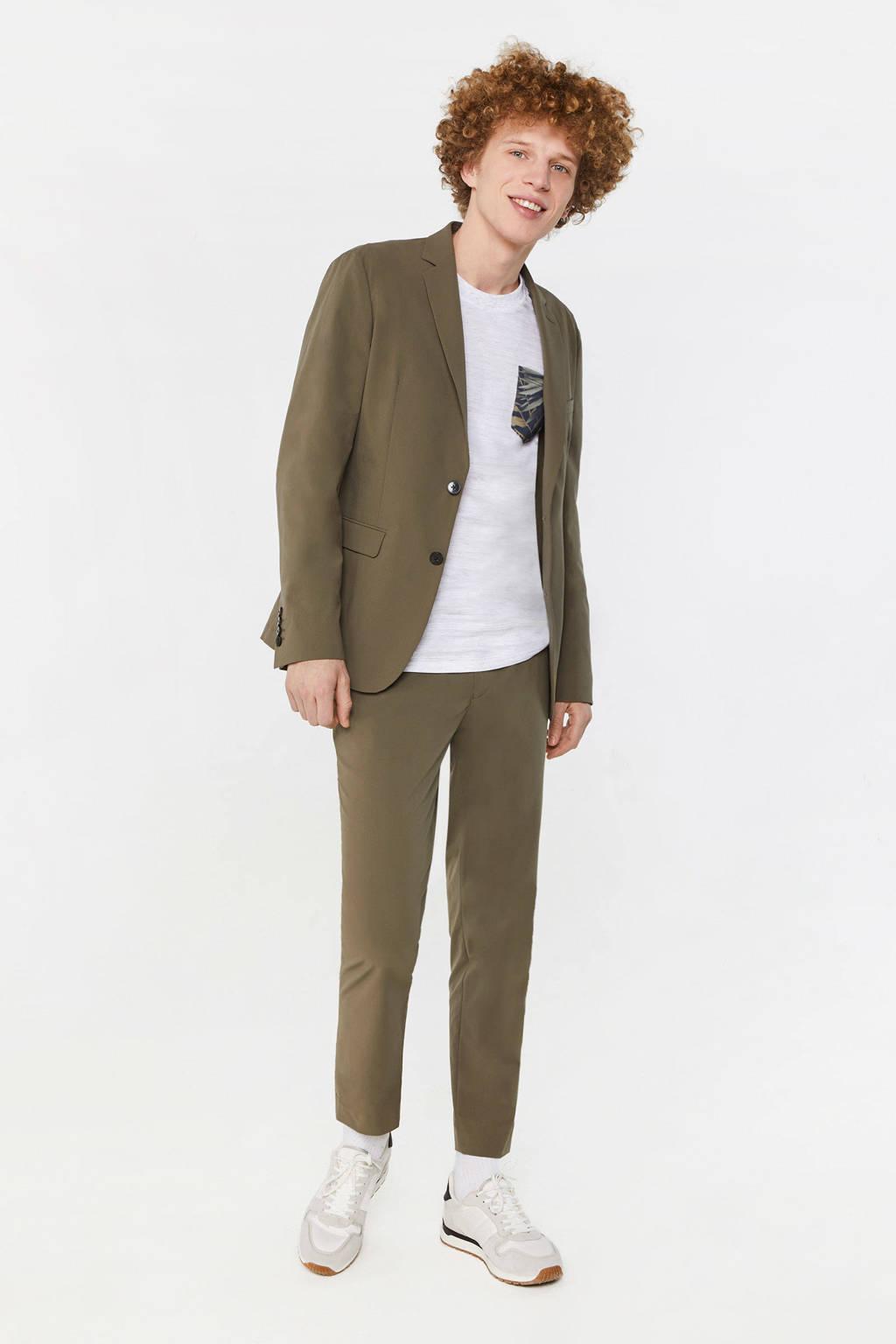 WE Fashion slim fit colbert green army, Green Army