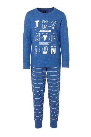pyjama met tekstopdruk blauw