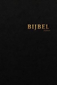 Bijbel (HSV) met Psalmen - vivella zwart met goudsnee