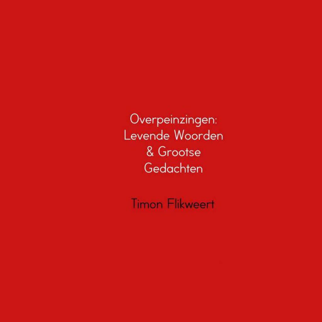Overpeinzingen: Levende Woorden & Grootse Gedachten - Timon Flikweert