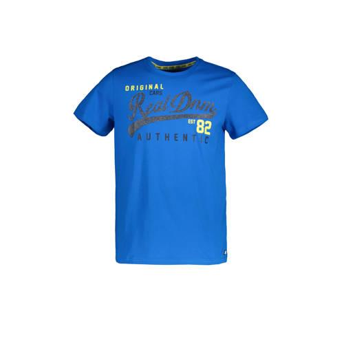 Cars T-shirt Crayon met tekst kobalt/grijs/wit