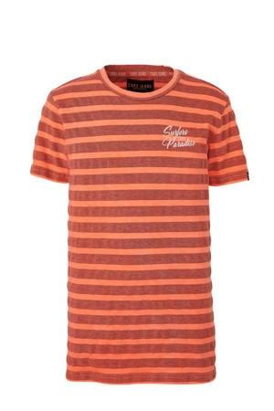 gestreept T-shirt Garry oranje