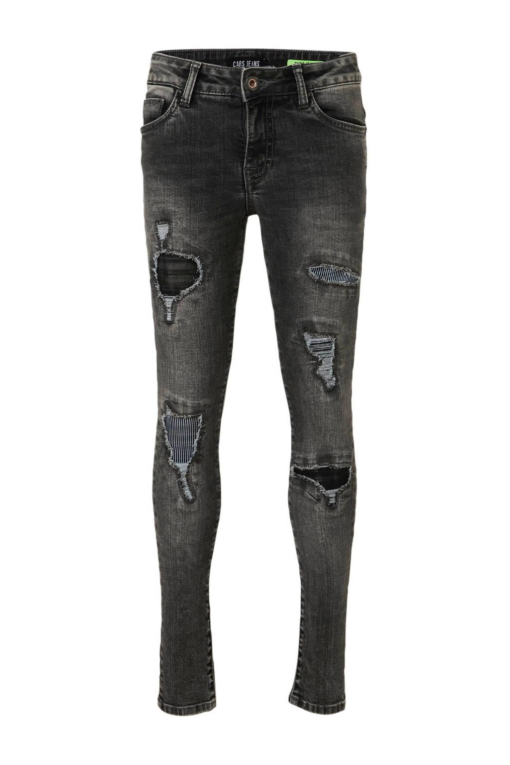 Cars slim fit jeans Bogey met slijtage grijs, Grijs