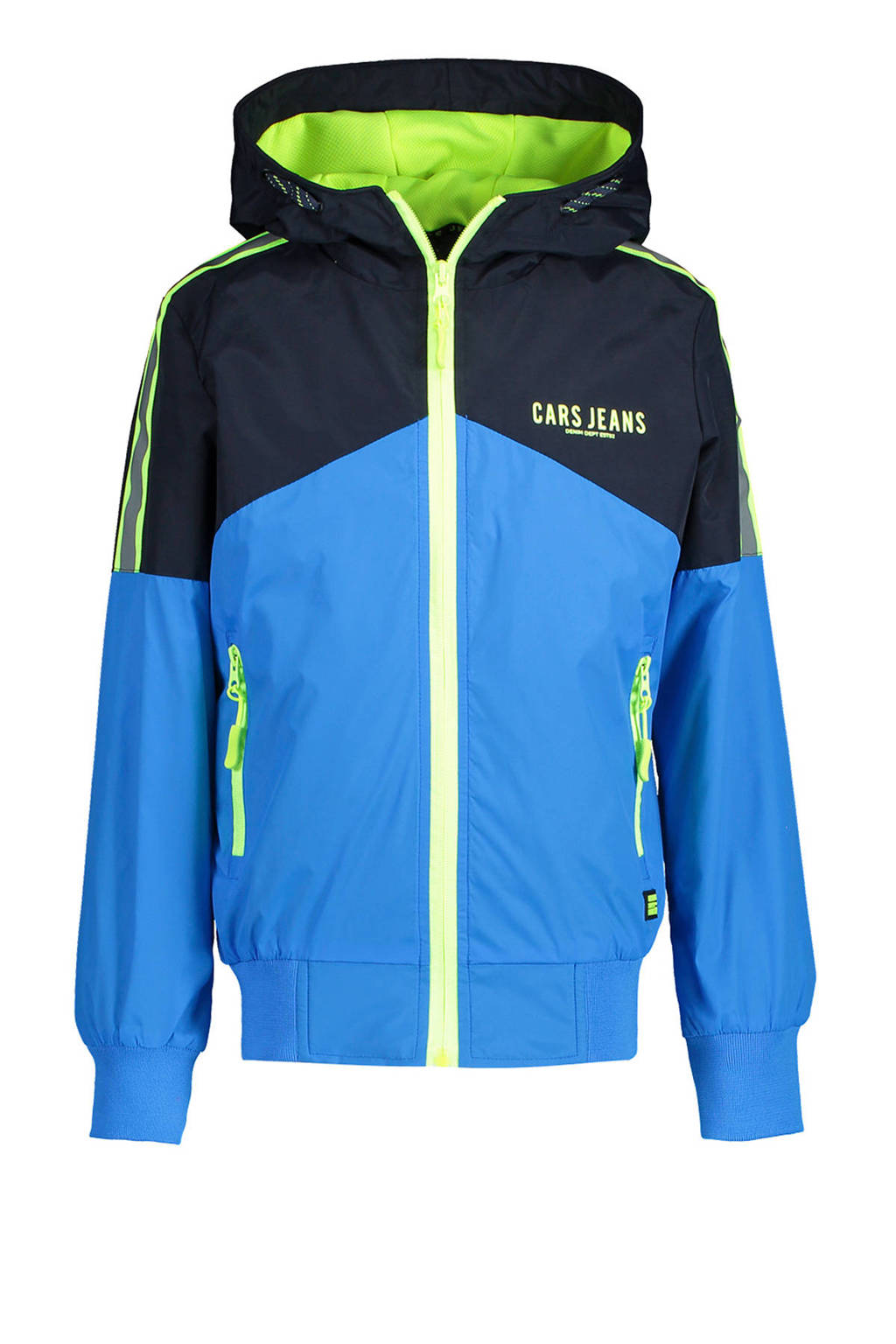 Cars zomerjas Conca kobaltblauw/zwart/neon geel, Kobaltblauw/zwart/neon geel