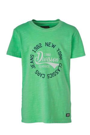 T-shirt Dunter met tekst groen/donkerblauw/wit