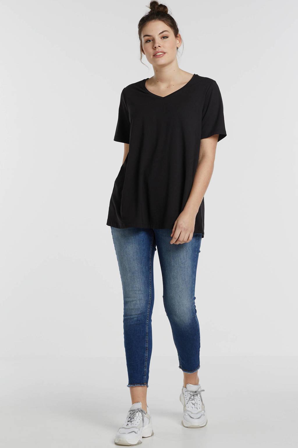 Yesta basic T-shirt Alba zwart, Zwart