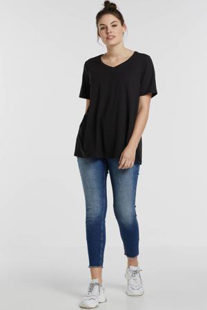 basic T-shirt Alba zwart