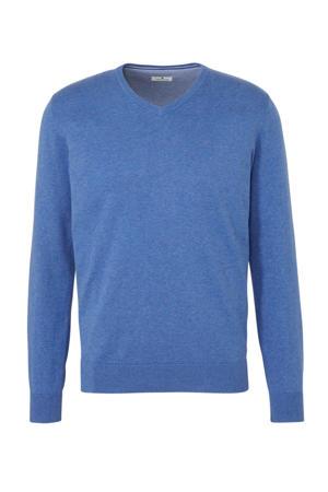 gemêleerde trui blauw