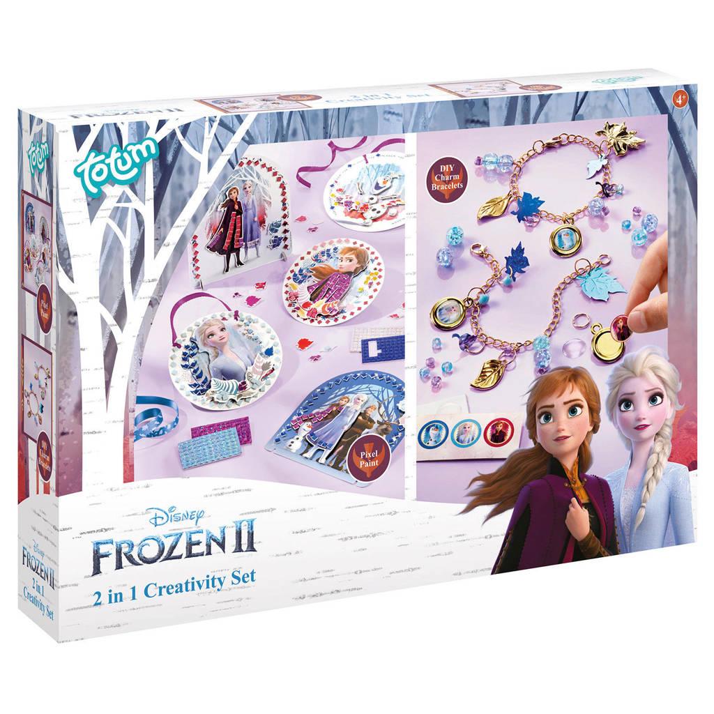Disney Frozen 2  2 in 1 creatieve set - pixel painting en bedelarmbandjes
