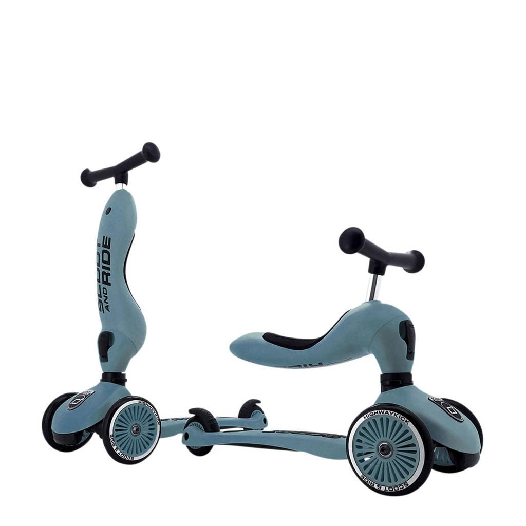 Scoot & Ride Highwaykick 1 - Steel, Blauw