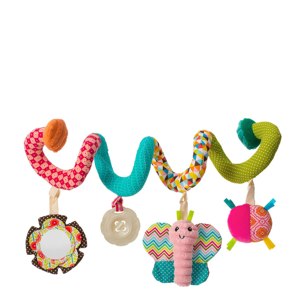 Infantino Soft - Go-Gaga - Spiral Car Seat Activity Pink, Multicolour