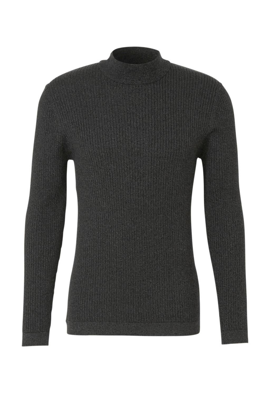 edc Men gemêleerde sweater antraciet, Antraciet