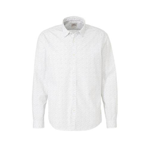 edc Men slim fit overhemd met all over print wit