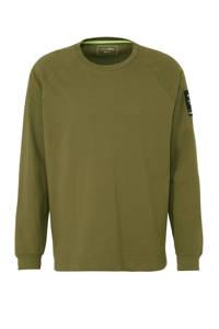Tom Tailor T-shirt met textuur groen, Groen