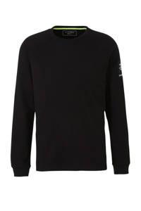 Tom Tailor gemêleerde trui zwart, Zwart