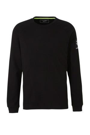 gemêleerde trui zwart