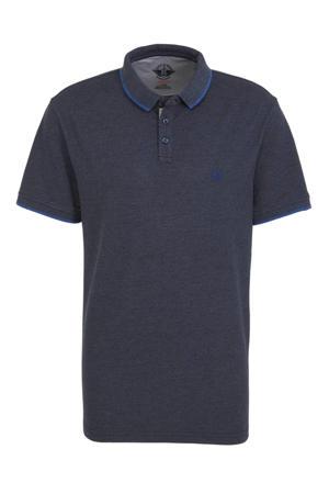 regular fit polo met logo grijsblauw