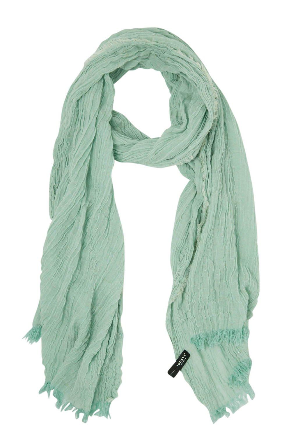 10DAYS lurex sjaal mintgroen, Mintgroen