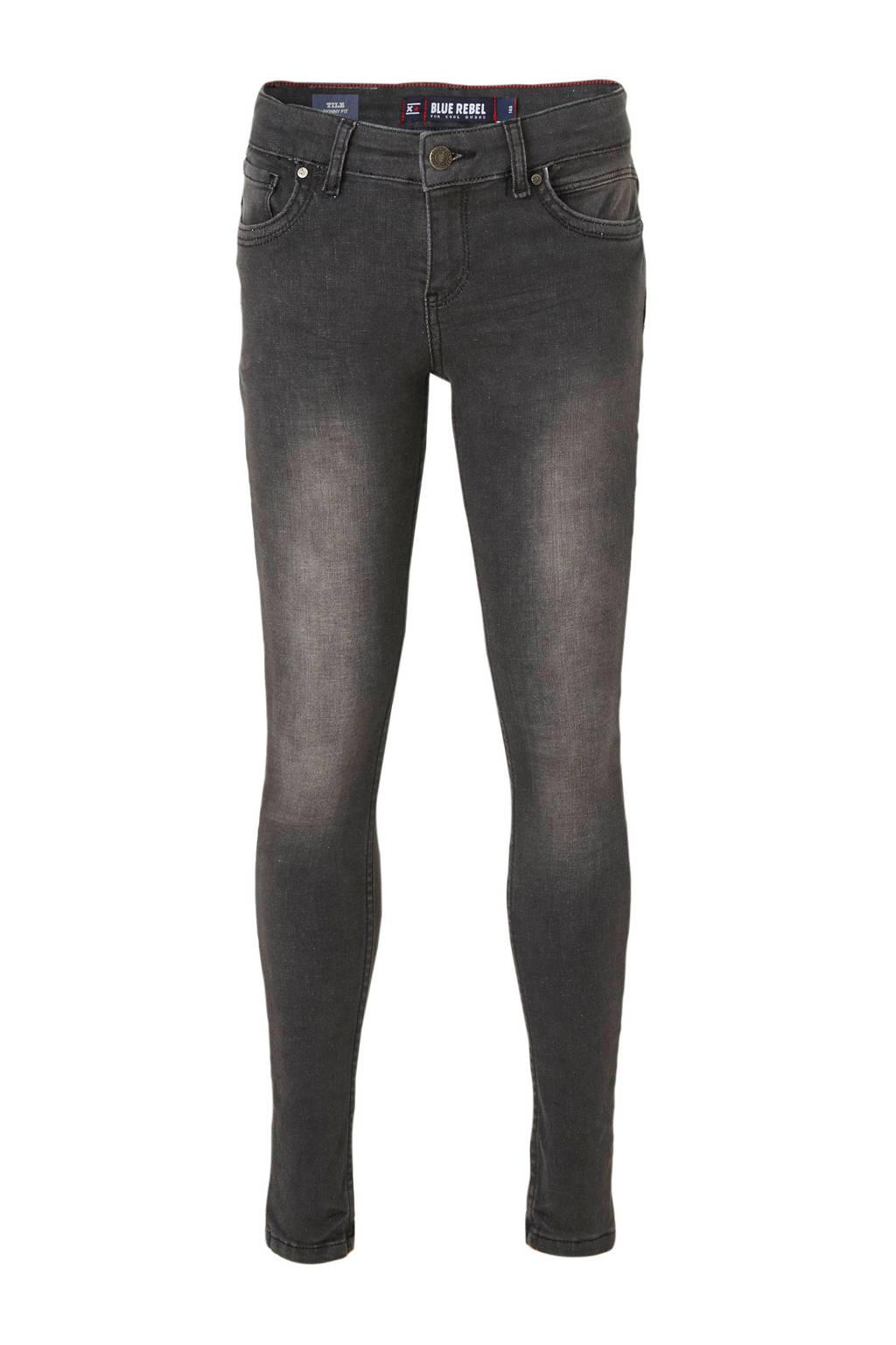 Blue Rebel super skinny jeans Tile grijs, Grijs