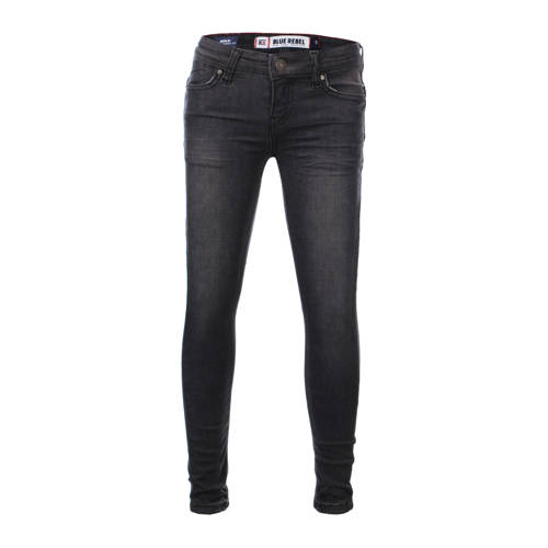Blue Rebel super skinny jeans Gold verwassen zwart